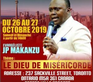 DU 26-27 OCTOBRE 2019. THEME: DIEU DE MISERICORDE